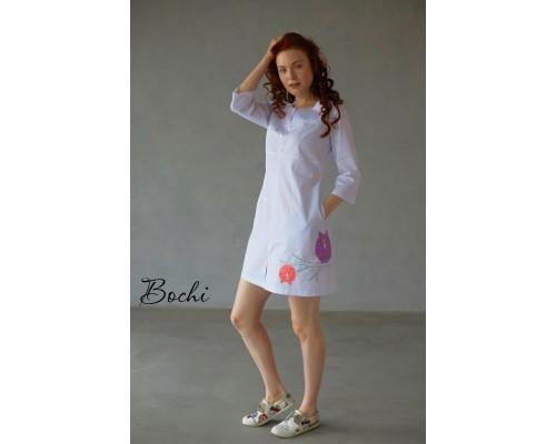 Платье Софья с аппликацией совы